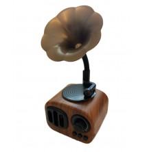 Nostaljik Retro Gramofon Bluetooth, Radyo, Usb