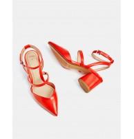 Butik, bantlı orta boy topuklu ayakkabı