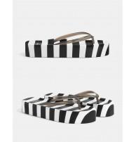 Butik, Japon Style, Çizgili platform sandalet