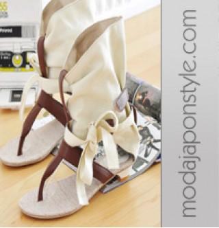 Japon Giyim Alçak Topuk Sandalet