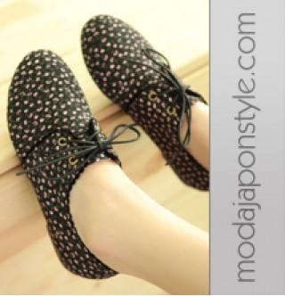 Japon Style Bayan Ayakkabı Canves Creeper