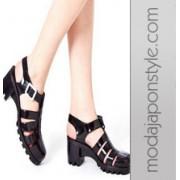 Japon Style Sandalet Jole Platform