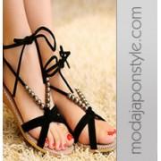 Japon Style Boncuklu Sandalet