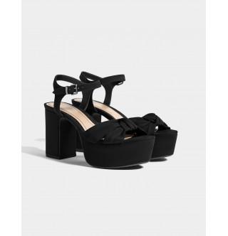 Platform topuklu sandalet ayakkabı