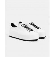 Beyaz platform spor ayakkabı
