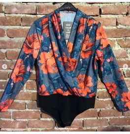 Japon Style Çiçekli Şifon Bluz