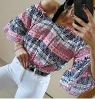 Japon Style Renkli Bluz
