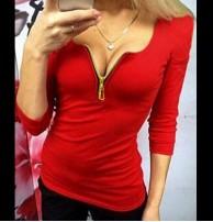 Japon Style Bluz Body Kırmızı