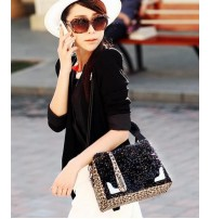 Japon Style Çanta Payetli El Çantası