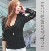Japon Style Blazer Bluz Ceket Dantel