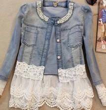Japon Style Dantel Detay Kot Ceket