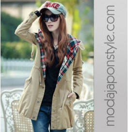 Japon Style Hodie Kaban Mont