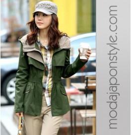 Japon Style Military Yeşil Ceket