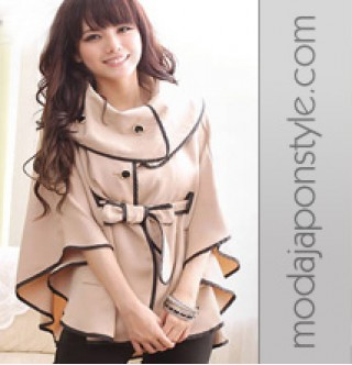 Japon Style Giyim Panço Trençkot