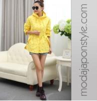 Japon Style Sarı Ceket