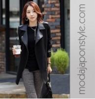 Japon Style Blazer Ceket Siyah Fit Giyim