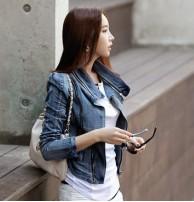 Japon Style Zipper Kot Ceket