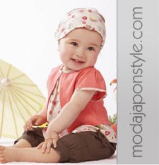 Japon Style Kız Çocuğu Üst Pantolon Şapka