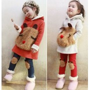 Japon Style Kız Çocuk Elbise Tayt Takımı