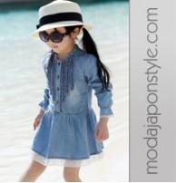 Japon Style Kız Çocuk Yazlık Elbise