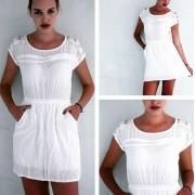 Beyaz Uzun Elbise, Japon Style