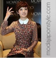 2014 Japon Style Uzun Kollu Elbise