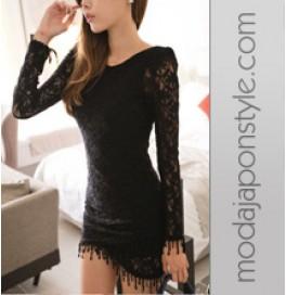 Japon Style Elbise Dantel Güpür
