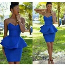 Japon Style Elbise Mavi ve Sarı
