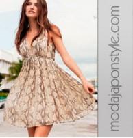 Japon Style V Yaka Şifon Elbise