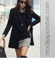 Japon Giyim Style Gri Siyah Zımbalı Elbise Tunik