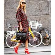Japon Style Elbise, Tunik, Kiraz Desen