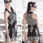 Japon Style Kore Elbise