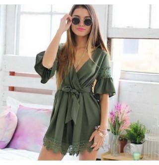 Japon Style Elbise Haki Elbise