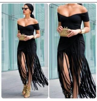 Japon Style Püsküllü Elbise