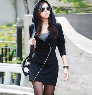 70bedb0334eae Japon Style Kapşonlu Elbise