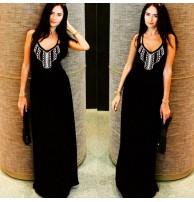 Maxi Elbise Siyah Uzun Elbise