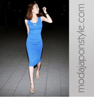 Japon Style Uzun Elbise