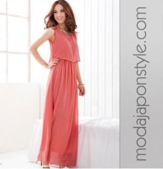 bc57cdecb3b8b Japon Style Uzun Elbise 3 Renk