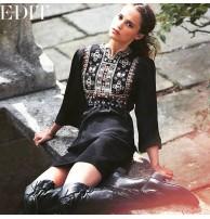 Elbise Siyah Önü Nakışlı, Japon Style