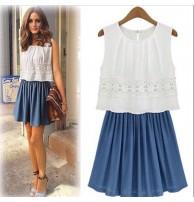Japon Style Elbise, Yazlık Elbise, Güpür Detaylı Elbise