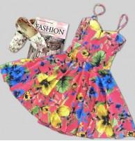 Japon Style Çiçekli Elbise