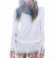 Japon Style Kırınkıl Kumaş Elbise