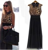 Japon Style Leopar Elbise