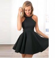 Japon Style Kloş Elbise Yaka Detaylı