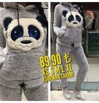 Japon Style Panda Alt üst Takım