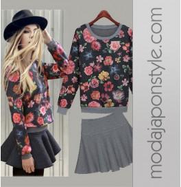 Japon Style Klosh French Mini Etekli Elbise