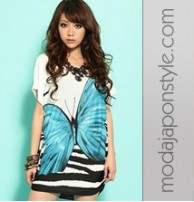 Japon Giyim Tunik Elbise
