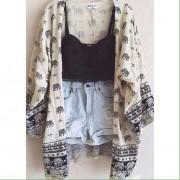 Hint Kumaşı Kimono
