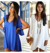 Japon Style Tunik Beyaz ve Mavi