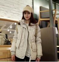 Japon Style Bayan Beyaz Krem Kaban